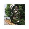 China Spiral Contemporary Garden Decoration Stainless Steel Mirror Sculpture wholesale