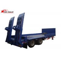 China 2/3/4/ Axles Hydraulic Low Bed Semi Trailer 40-100 Tons Gooseneck Type wholesale