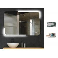 China Rectangle LED Illuminated Bathroom Mirror Touch Sensor Demister Warm Light wholesale