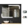 China Rectangle LED Illuminated Bathroom Mirror Touch Sensor Demister Warm Light wholesale