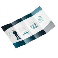 China Foldable Business Card Printing , A5 Leaflet Printing Art Paper Full Color on sale