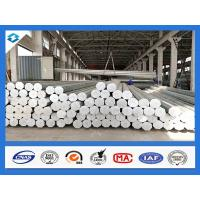China 35FT 3mm Thick Q345 500KGF Load Galvanized Electric Steel Poles wholesale