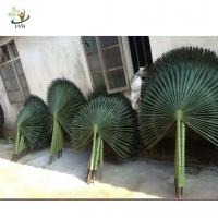 Buy cheap UVG material uv fake palm fronds in silk leaves for outdoor watertown landscapin from wholesalers