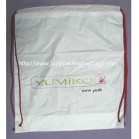 China White Lightweight Durable Drawstring Storage Bags With Two PP Drawstring wholesale