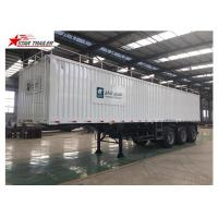 Quality Box 3-4 Axles Flatbed Container Trailer 60-100Tons Dry Food Van Transport for sale