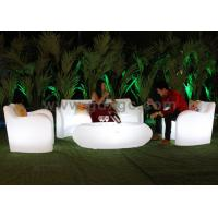 China Plastic Lighted modern Sofa set Change Colors Via Remote Control for Hotel Room and Hall wholesale