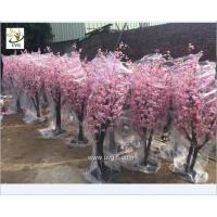 China UVG 2m high outdoor pink cherry blossom tree fake with peach flower branches for wedding planner CHR152 wholesale