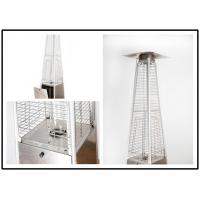 China Tall Quartz Glass Tube Patio Heater , Powder Coated / Stainless Steel Gas Patio Heater wholesale