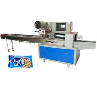 China Flow Cookies Packaging Machine Stainless Steel With Over 60 Bags Per Minute wholesale