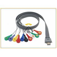 Buy cheap 10 Leads Holter Ecg Cables And Leadwires 0.9 Meter Length Biox Compatible from wholesalers