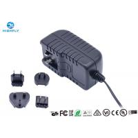 China 18V 1A Interchangeable Plug Power Adapter Power Supply With UL CE GS Certifications wholesale