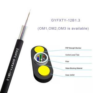 Gyfxty Outdoor Non Metallic Fiber Optic Cable 12 Core Single Mode G652D 30M Span Length