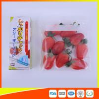 China Clear Plastic Freezer Zip Lock Bags With Writing Panel For Vegetable / Meat Storage wholesale