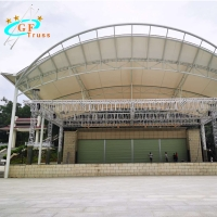China Curved Arched 6061-T6 Aluminum Roof Truss System For Exhibition wholesale