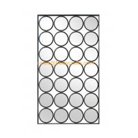 China Modern design rectangle shape mixed circle decorated metal Iron framed mirror wholesale