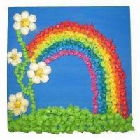Quality 18 x 18cm DIY Tissue Paper Craft, Made of Paint Brick/Tissue Paper, with Nice Pattern for sale