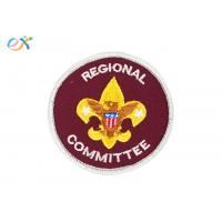 China Red Color Round Personalised Embroidered Badges Clothing Patch For Boy Scout wholesale