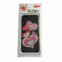 China Mobile Phone Sticker for iPhone 5, Made of Acrylic, Customized Designs are Accepted wholesale