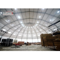 China Large aluminum football stadium polygon sports event tent, outdoor large clear span permanent tennis sport polygon tent wholesale