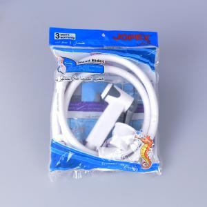 China jk-3046 egypt bangladesh middle east lower price white color abs plastic hand bidet shattaf set with 1.2m pvc hose wholesale