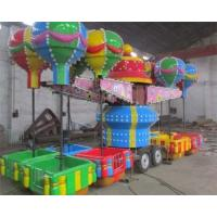 China 32 Seats Trailer Mounted Rides With Colorful Balloons And Beautiful Cabins wholesale