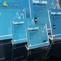 China High Quality Pure Life Frames Acrylic L Shape Sign Display Holder wholesale