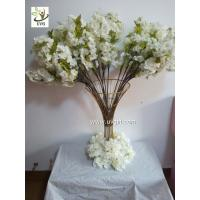 China UVG Tree branches for centerpieces with white artificial cherry blossom indoor wedding use CHR091 wholesale
