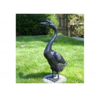 China Outdoor Modern Life Size Casting Finish Bronze Animal Goose Sculpture wholesale