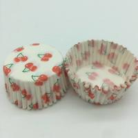 China Cherry Pattern Greaseless Cupcake Liners, Muffin Cake Paper Cups For Children Party wholesale