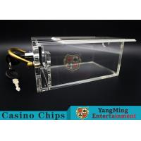 6 Decks Casino Card Box / Poker Card Box With Metal Handle Easy To Carry for sale
