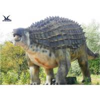 China Animatronic Outdoor Dinosaur Statues , Dinosaur Yard Decorations With Infrared Ray Sensor wholesale