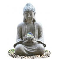 China Outdoor Buddha Water Fountain For Garden , Customize Voltage Granite Color wholesale