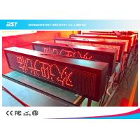 Buy cheap Outdoor Waterproof Red Color LED Moving Sign Programmable 10mm Pixel pitch from wholesalers