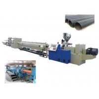 Quality HDPE Plastic Pipe Extrusion Line For Water / Gas Pipe , Plastic Pipe Extrusion Machinery for sale