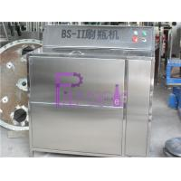 China Double Heads Semi Automatic Glass Bottle Cleaning Machine For Beverage Filling Line wholesale