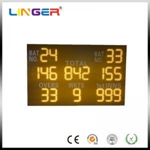 China Simple Cabinet Custom Digital Cricket Scoreboard 100000 Hours LED Life wholesale