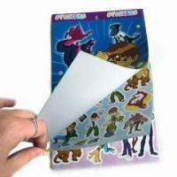 China Sponge Bubble Stickers with Six Pages Adhesive Label, Measures 22.6x 14cm wholesale