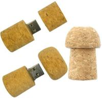 Quality Bottle Cork Wooden USB 2.0 Thumb Drive Security Eco-Friendly for sale