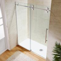 China Wholesale Custom Stainless Steel Sliding Glass Free Standing Shower Enclosure wholesale