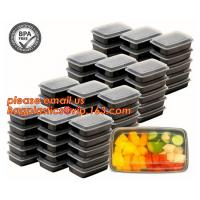 China Food grade plastic disposable plastic take away bento box with 4 compartment,Containers Plastic Leakproof Food Container wholesale