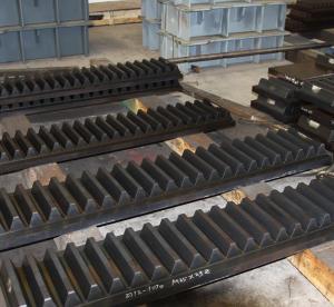 China Forged Forging Steel CNC Milling Grinding jack up offshore drilling rig platform jackup Locking mechanism Gear Racks wholesale