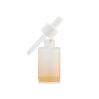 China 1OZ Frosted Glass Dropper Bottles For Cosmetic Packaging wholesale