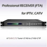 China RFR1206 Six-Channel Hotel TV Professional Receiver TS OVER IP Output on sale