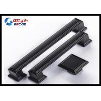 China 128mm American Stylish Plating Kitchen Cabinet Handles 96mm Black Arched Dresser Pulls Square Knobs wholesale