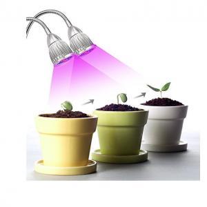 China Dual Head  LED Plant Grow Light 360 Flexible Adjustable Gooseneck For Greenhouse wholesale
