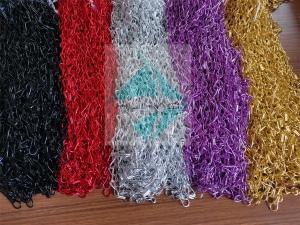 China Aluminum Decorative Jack Hook Meshed Curtain Designs Pattern Appearance wholesale