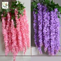 China UVG Indoor cheap fake flowers with wisteria branches for church wedding decoration WIS006 wholesale