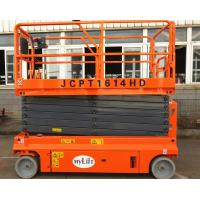 China Steel Self Propelled Aerial Work Platform Lift Height 13.7m With Emergency Stop Button wholesale