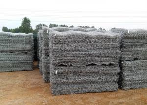 China Galvanized coated  2x1x1m  Gabion weave Wire Mesh hexagonal  Hole  80 X 100mm wholesale