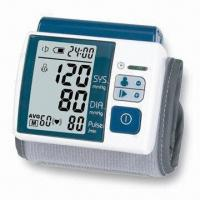China Wrist Blood Pressure Monitor with Auto Power-off and 2 x AAA Batteries on sale